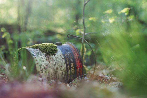 Søppel i naturen